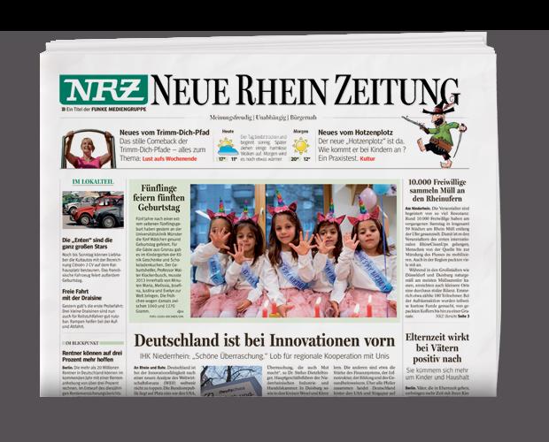Leser gedruckte Tageszeitung